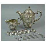 (8) PIECE GERMAN & CHINESE SILVER GROUP