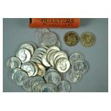 UNCIRCULATED ROLL OF 40 1964-D WASHINGTON QUARTERS