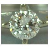 DIAMOND ENGAGEMENT RING, 0.60CT