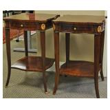 PAIR MAITLAND SMITH MAHOGANY SIDE TABLES