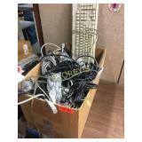 Box Full of Asst Cords & Keyboard
