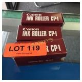 3 Canon CP-1 Ink Rollers