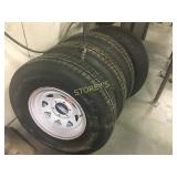 4 Carlisle Trailer Tires - ST235/85R16