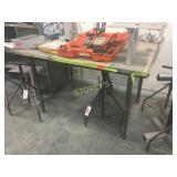 Steel Work Table - 58 x 48 x 38