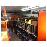 3 Bay 4 Shelf Steel & Wood Parts Rack