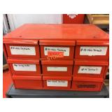 9 Drawer Parts Cabinet & Contents