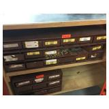 16 Drawer Cabinet & Contents - 34 x 12 x 11