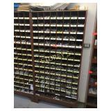 Parts Cabinet & Contents: Machine Bolts, Etc.