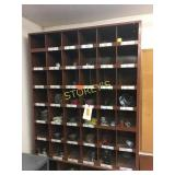 Brown Pigeon Hole Cabinet - 36 x12 x 42