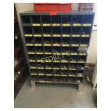 Grey Parts Cabinet & Contents - Plumbing Fittings