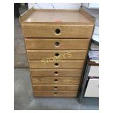 8 Drawer Parts Cabinet & Contents: Controls,