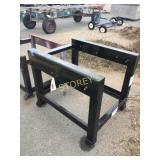 Black Steel Work Table - 34 x 42 x 35