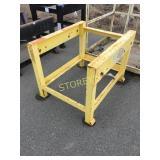 Yellow Steel Work Table - 35 x 42 x 32