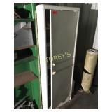 White Cabinet & Contents: Fuel Pump, Etc.