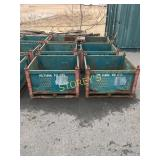 Green Stacking Steel Totes - 36 x 32 x 24