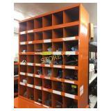 42 Hole Orange Parts Cabinet - 36 x 12 x 42