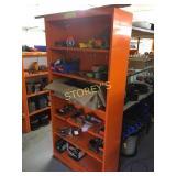 6 Shelf Orange Parts Cabinet - 36 x 12 x 76
