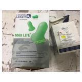Box of 500 Max Light Ear Plugs & Peltor Ultra