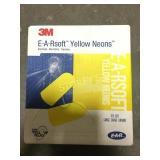 Box of 3M E-A-R Soft Ear Plugs - Yellow Neon