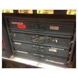 4 Drawer Grey Parts Cabinet & Electrical Contents