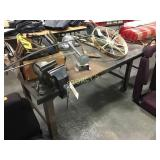 Steel Plate Work Table w/ 2 Vices