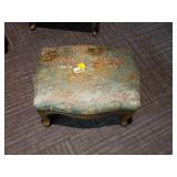Vintage Asian Design Footstool