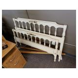 Wooden White Bedframe Set