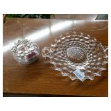 Glass Tray and Poupourri Jar