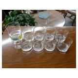 "9-Piece ""H"" Brandy Glass Set"