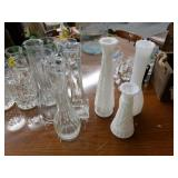 6 Glass Vases
