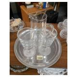 Glass Pitcher and Cup Set