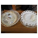 Misc Glass and Silver Plated Trays