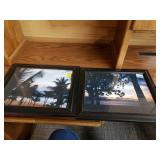 Pair of Beach Sunset Framed Photos