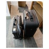 Leather Suitcase and Travel Bag