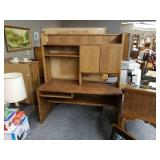 2-Piece Oak Wood Desk