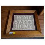 Framed Home Sweet Home Embroidery