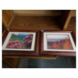 Pair of Framed Landscape Photographs