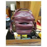 Burgundy Camera Bag with Accessories