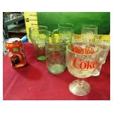 392 - COLLECTIBLE VINTAGE COCA COLA GLASS