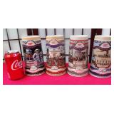 392 - 4 COLLECTIBLE STEINS AMERICAN ACHIEVEMENTS