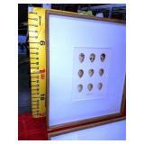 43 - WMC NEW TALL FRAMED MATTED WALL ART