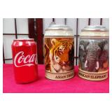 392 - 2 COLLECTIBLE STEINS ANIMAL THEMED