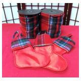 43 - NEW WMC FLANNEL RED STOCKINGS & LINEN