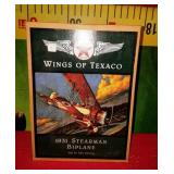 43 - COLLECTIBLE IN BOX WINGS OF TEXACO BIPLANE