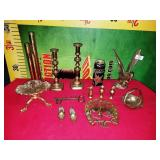 76 - LARGE LOT BRASS HOME DECOR ITEMS