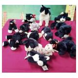 78 - LOT OF STUFFIES B&W CATS & RATS & MORE