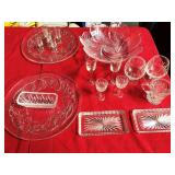 380 - VINTAGE GLASSWARE FOR TABLE