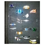 408 - LARGE LOT OF ESTATE COSTUME RINGS #2