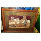 11 - FRAMED TIGER WALL ART