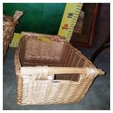11 - PAIR LARGE WOVEN BASKETS